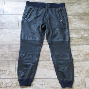 True Religion Jogger Sweat Pants Moto Coated New